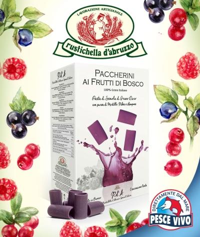 Paccherini ai frutti di bosco Rustichella d'Abruzzo