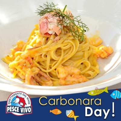 Carbonara di mare per il Carbonara Day