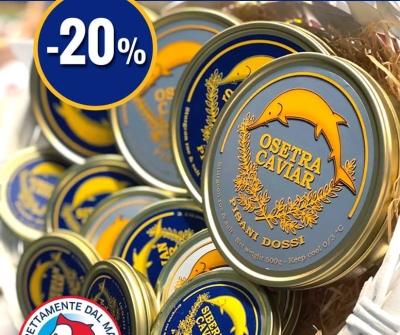 Sconto del 20% su Siberian Caviar e Osetra Caviar
