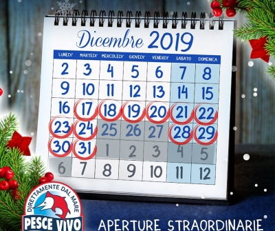 Aperture Straordinarie Natale 2019