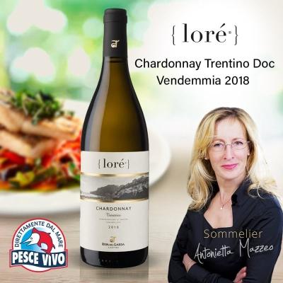 LORÉ Chardonnay Trentino Doc – Vendemmia 2018 – Selezione di uve Chardonnay e Manzoni Bianco