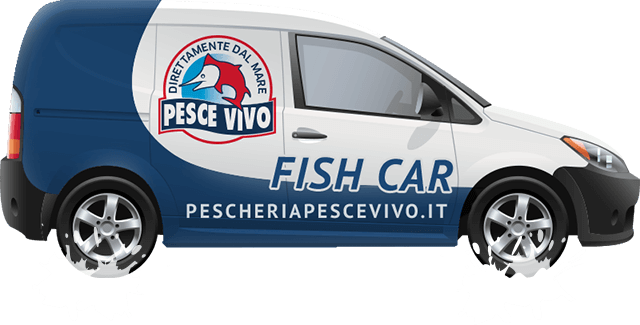 Macchina Consegne Pescheria Pesce Vivo
